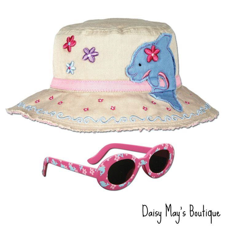 Stephen Joseph Dolphin Sun Hat and Sunglasses for Kids - Beach Hat - Bucket Cap #StephenJoseph #BucketHatandSunglasses
