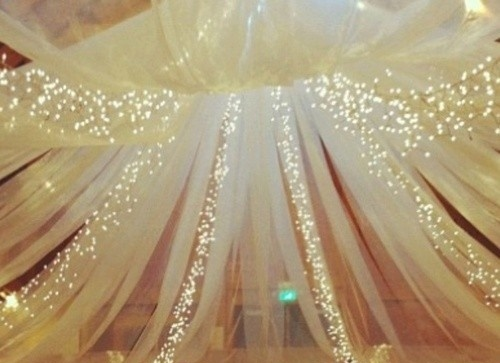 Tulle And Twinkle Light Canopy