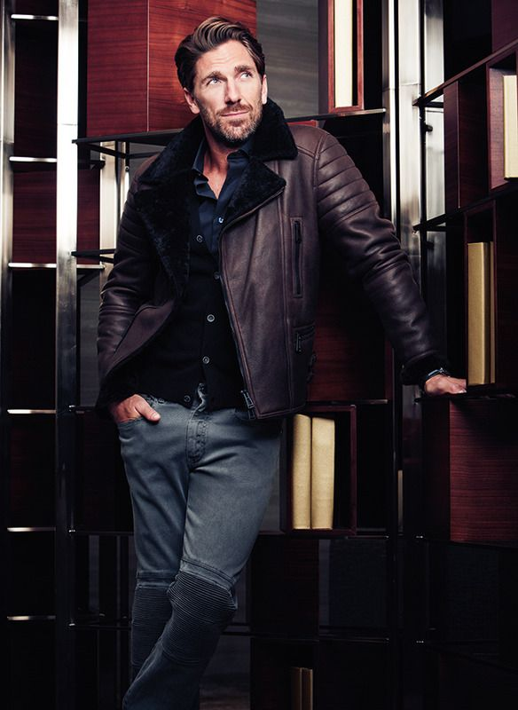 Stephen F, Salvatore Ferragamo, Canali, Belstaff, Brunello Cucinelli and ermenegildo ZEGNA in Gotham Magazine, the October issue, in a photo shoot for an article about the sport star and fashion icon, Mr Henrik Lundqvist.