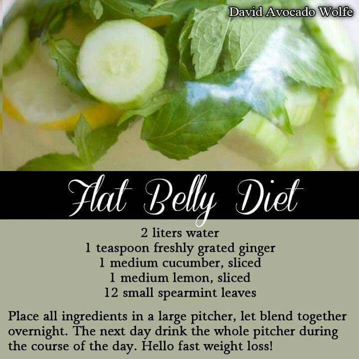 Not sure about the flat belly,  but at least it's healthy and refreshing.