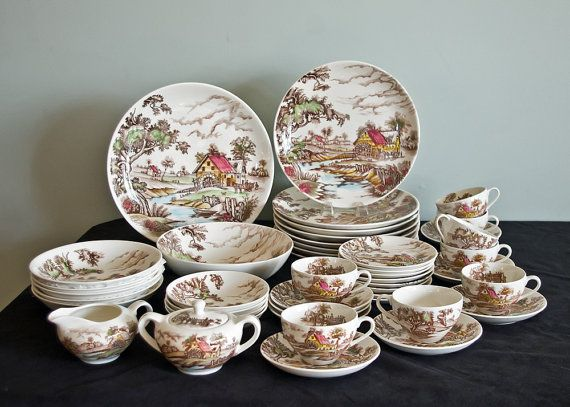 Japan China Old Mill Scene 46pc Dinnerware by TheRealmCollectibles · Brown DinnerwareVintage DinnerwareDinnerware SetsKitchen ... & 339 best DINNERWARE SET images on Pinterest | Dish sets Dishes and ...
