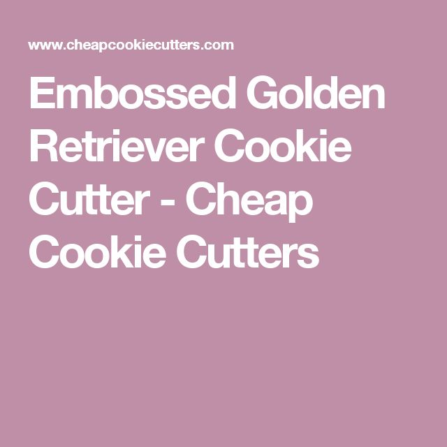 Embossed Golden Retriever Cookie Cutter - Cheap Cookie Cutters