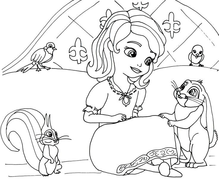 Dibujos Para Colorear Princesa Sofia Coloring Pages Princess