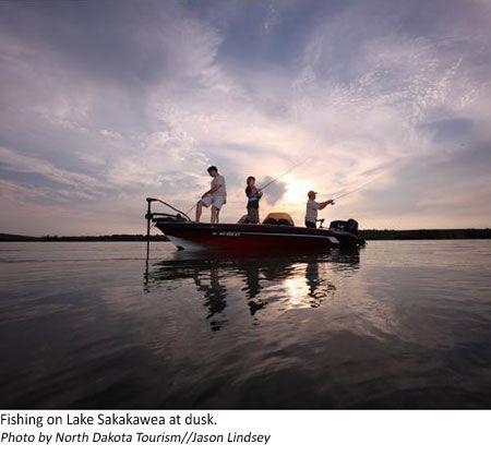 Fishing in Lake Sakakawea, North Dakota