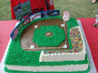 Bia & Josh's Mom: Baseball Field Cake