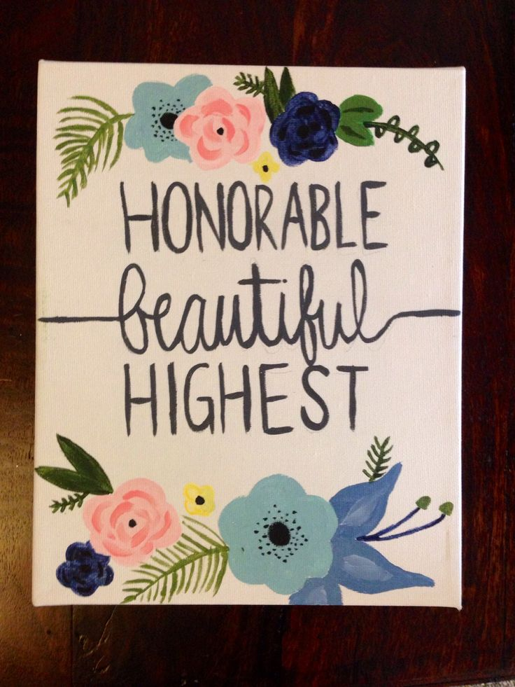 Honorable beautiful highest canvas