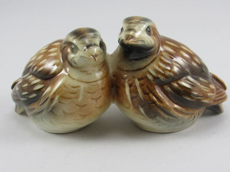 "Highly Collectible Vintage Goebel Watchel Quail Figurine.  The Birds are  one piece 5 1/2"" Stamped  Goebel - W. Germany - #38 347-07 - 1977. by VintageQualityFinds on Etsy http://amzn.to/2injADD"