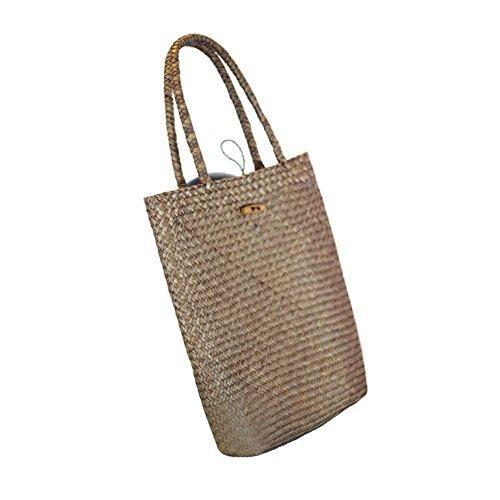 Oferta: 11.99€. Comprar Ofertas de bolsos de mano y el hombro bolsa hecha de bambú y ratán, bolso de verano Bolsa de hombro tejido de bolsa Bolso de playa de pa barato. ¡Mira las ofertas!
