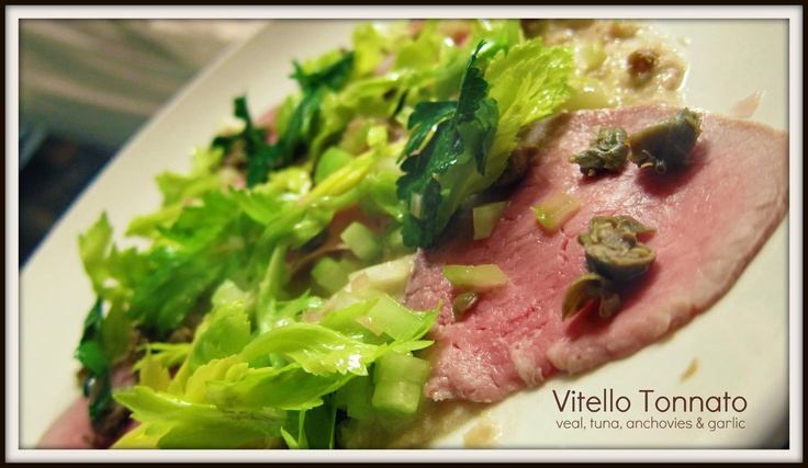Vitello Tonnato - Veal, Tuna, Anchovies and Garlic. A great start to the meal at Osteria Coppa!