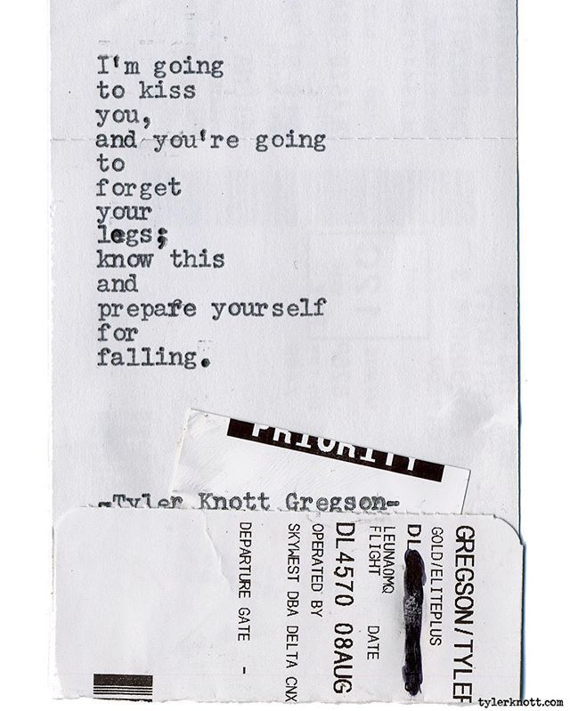 Typewriter Series #1601 by Tyler Knott Gregson _____ Chasers of the Light & All The Words Are Yours are Out Now!