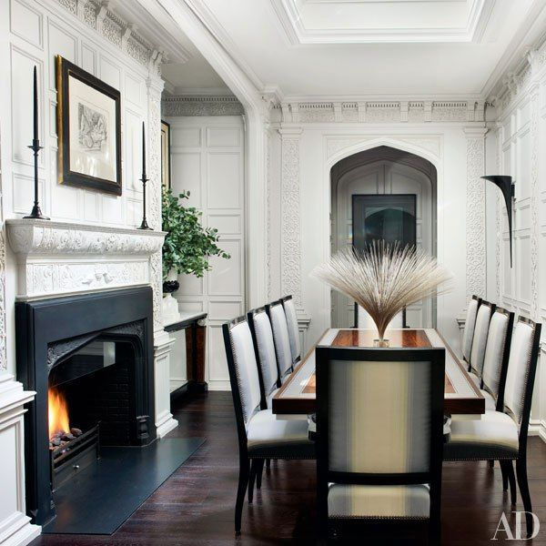 A Grand London Townhouse Receives Luxe Update Beautiful Dining RoomsWhite