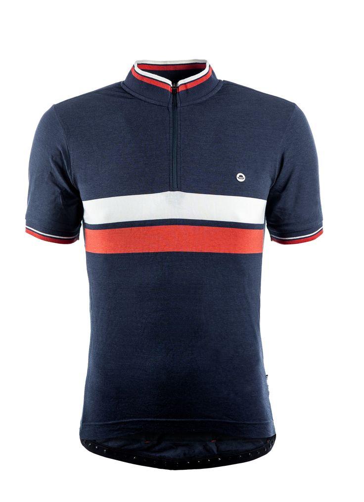 Chapeau! Cafe Jersey in Blau - Cyclocross ist der Radsport und steht für Querfeldeinrennen, Schnelligkeit und jede Menge Spaß das ganze Jahr über.