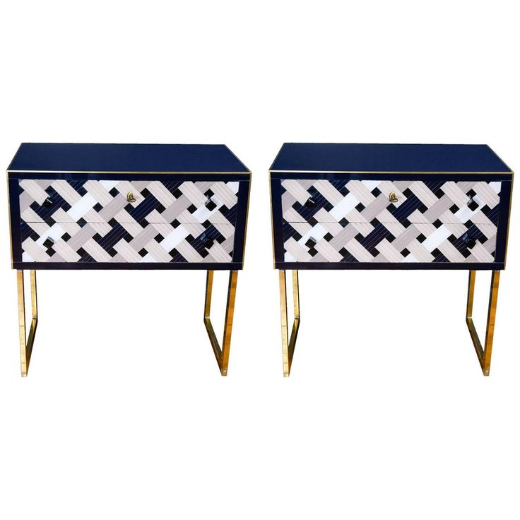 Pair of Italian Vintage Commodes | From a unique collection of antique and modern commodes and chests of drawers at https://www.1stdibs.com/furniture/storage-case-pieces/commodes-chests-of-drawers/