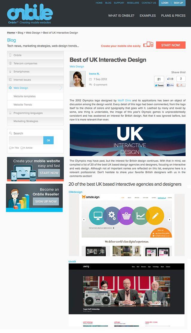 OM Design London named one of the best UK based interactive agencies https://www.omdesign.co.uk  #website  #webagency  #London #interactiveagency #bestagency