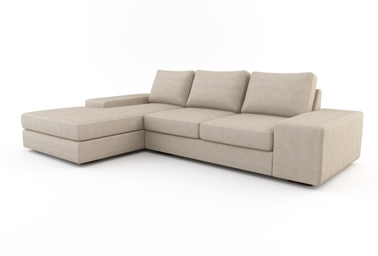Modern Sofa Bed, Strata Chaise Left Sectional w/ Sofa Bed (Custom) | Viesso $4,783.00 infinity suede charcoal Dave ebony legs