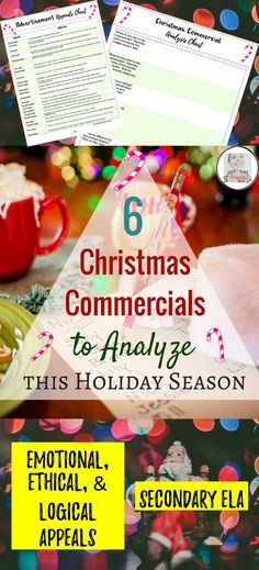 In this blog by Bespoke ELA, find SIX Christmas Commercials to analyze with your secondary high school or middle school English Language Arts students this holiday season.