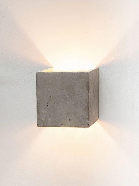 wandlampe beton gold