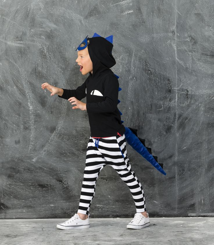 We are too cute to SPOOK this Halloween! Meet the Dino Kid! Click the image to shop our NEW Halloween Range #cottononkids #halloween #toocutetospook