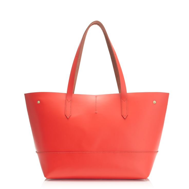 J.Crew women's new Uptown tote bag in bright flame.