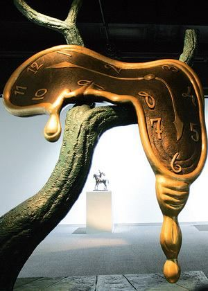 "Salvador Dali. ""Profil du Temps"" (Profile of Time) Monumental bronze."