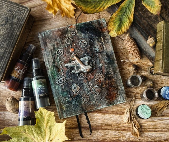 Masculine mixed media notebook tutorial by Maria Lillepruun
