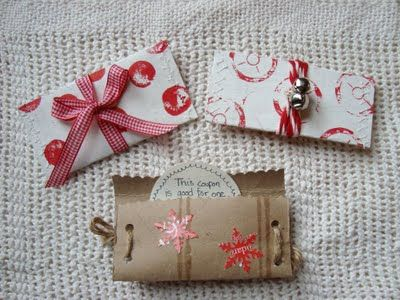 * Maya hizo: regalos sencillos: los titulares de tarjetas de bricolaje