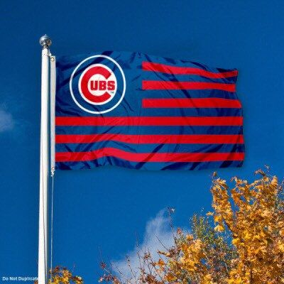 A personal favorite from my Etsy shop https://www.etsy.com/listing/290590921/chicago-cubs-stars-and-stripes-3x5-flag