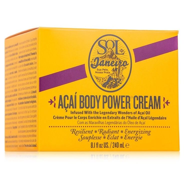 Sol de Janeiro Acai Oil Body Power Cream 8.1 oz. 240 Ml Full Size Nib Brazilian  | eBay