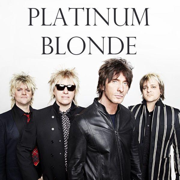 Platinum Blonde member: Rob Laidlaw bass - Sergio Galli guitar - Mark Holmes lead singer - Daniel Todd drums  Canadians band