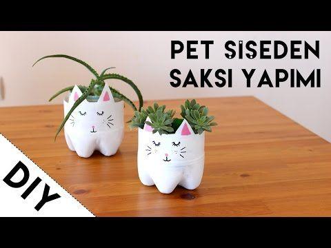 Pet Şişeden Kedi Saksı Yapımı | Geri Dönüşüm Projeleri | Kendin Yap - DIY - YouTube
