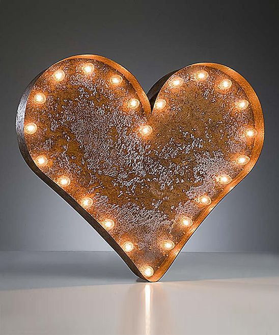 26'' Heart Vintage Marquee Light | Daily deals for moms, babies and kids