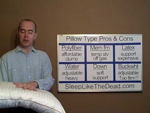 Great information on pillows and mattresses if you have trouble sleeping.