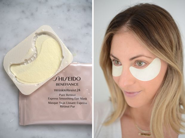 Shiseido Eye Pads I swear by my Shiseido face cleanser, so I thought that I would give their eye pads a try. They're cool and refreshing and after fifteen minutes, my under-eye puffiness is virtually gone and in its place is hydrated, glowy skin. The recommended use is a few times a week, but even when I wear them once every so often, I notice a big difference.