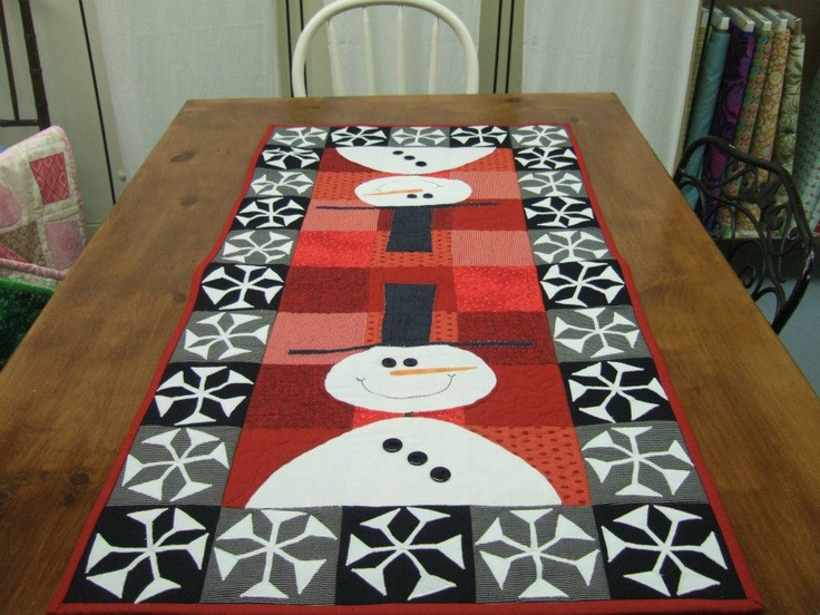 Snowman Table Runner Quilting Pinterest A well, Runners and Patterns