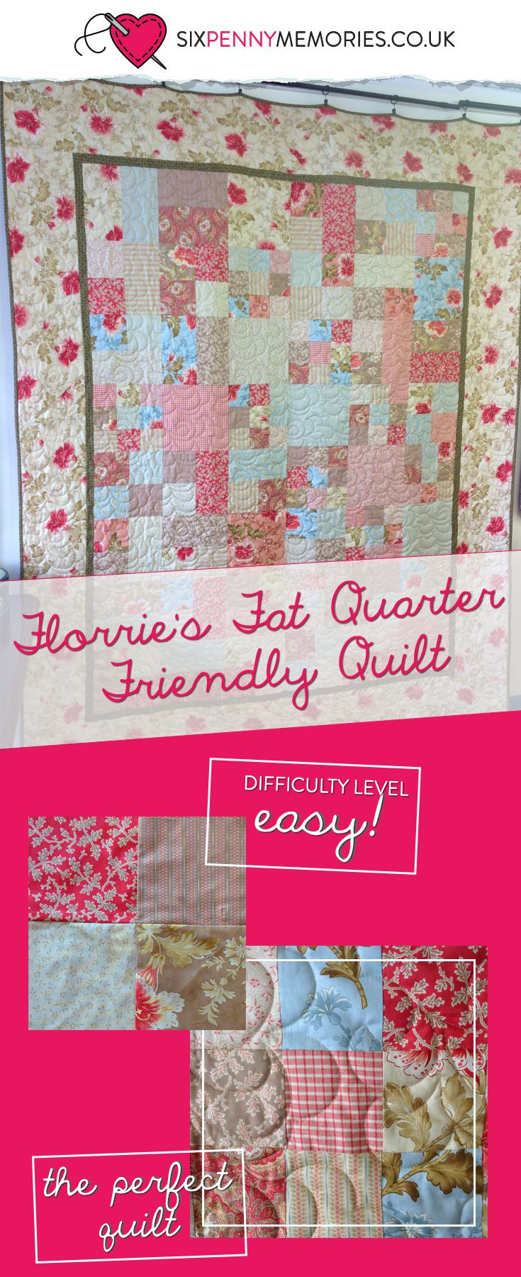 This pattern to make a beautiful quilt is perfect for beginners