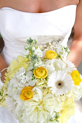 bridal bouquet? more white than yellow? is that what you wanted?