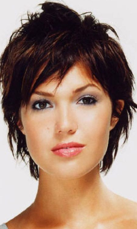 Messy Short Hair, maybe this style except white in front and black and silver everywhere else.