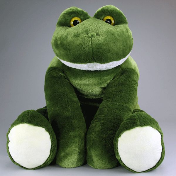 lily the large stuffed frog toy is on sale at www buckles and smiling and loveable. Black Bedroom Furniture Sets. Home Design Ideas