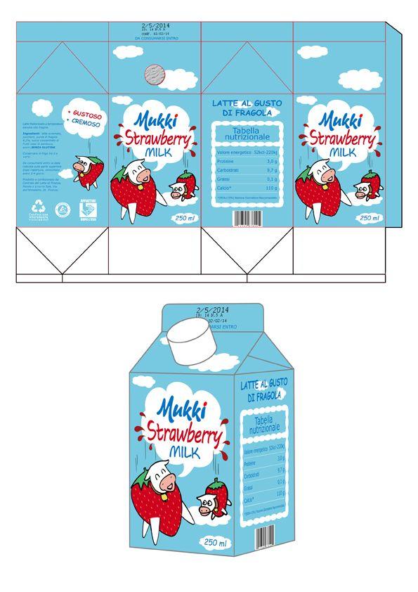 Progetto per il packaging di una bevanda a base di latte. Flavio Pardera, 2014