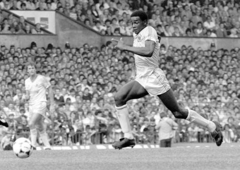 Justin Fashanu during his playing days at First Division Nottingham Forest Football Club. Picture: PA.