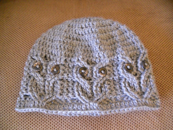 Free Crochet Cable Owl Hat Pattern : 17 Best images about Crochet on Pinterest I love mom ...