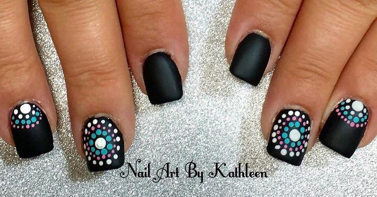 "17 Likes, 2 Comments - Nail Art By Kathleen (@nailartbykathleen) on Instagram: ""Matte Black Nails #nails #nailart #naildesign #notd #mattenails #blacknails #matteblacknails #dots…"""