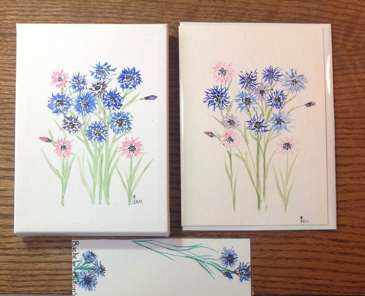 Christmas Gift, Gift for Her, Coworker Gift, Stocking Stuffer, Original Watercolor, Greeting Card, Bookmark, Floral Art, Gift Set, Wall Art by FreeFlowingPaint on Etsy