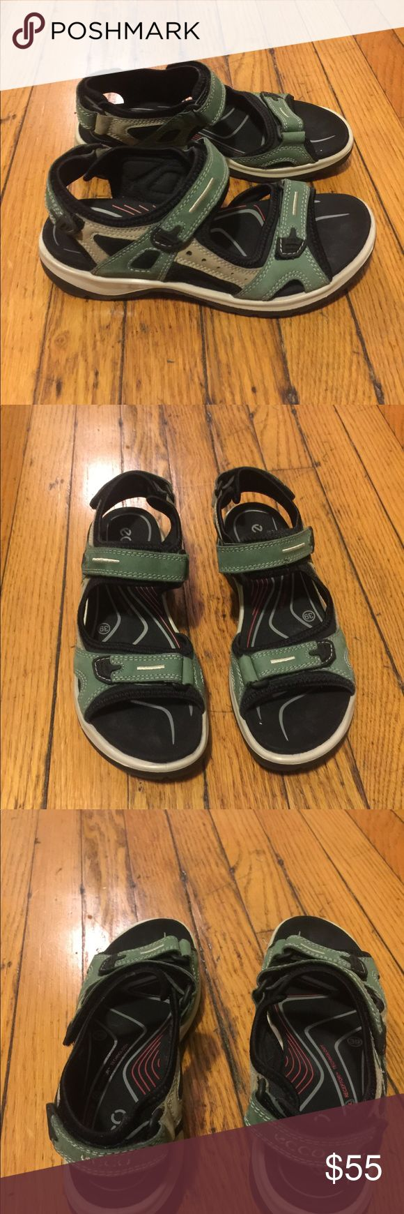 Ecco sandals Nice pair of Ecco Sandals worn once.EUC.Moon rock green.NICE Ecco Shoes Sandals