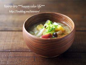 レンジふかし芋で時短調理★サツマイモとしめじのお味噌汁|レシピブログ