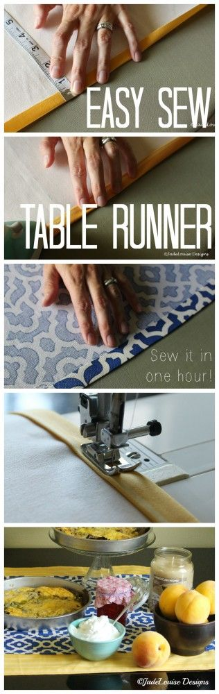 This easy sew table runner can be made in an hour or less! It's the perfect…