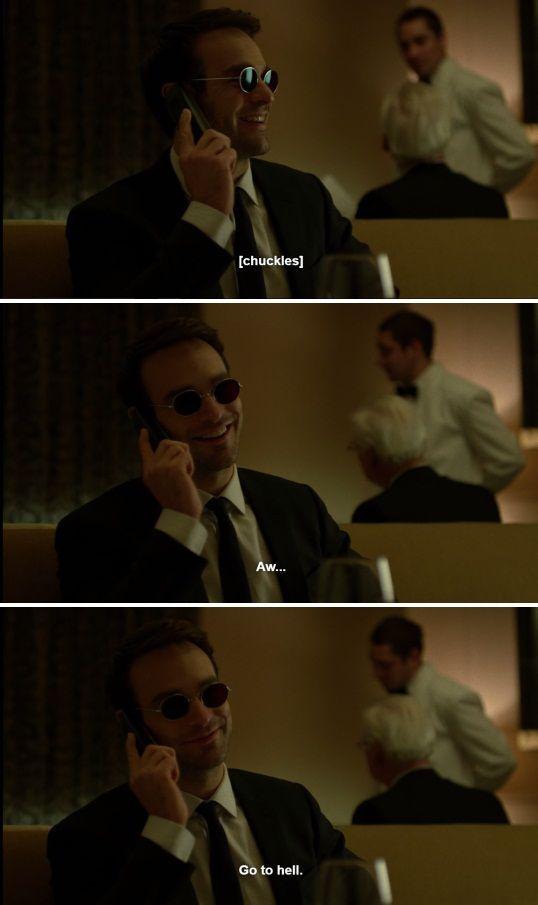 "Matt: Aw... go to hell. #Marvel #Daredevil #netflix 2x05 ""Kinbaku"""