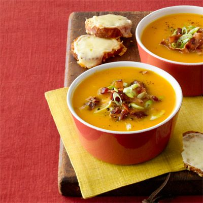 Butternut Squash Soup with Rosemary and Bacon - WomansDay.com