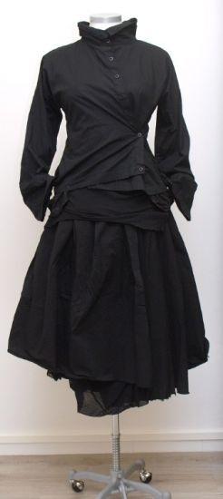 rundholz dip - reversible skirt Cotton Tulle black - Winter 2015
