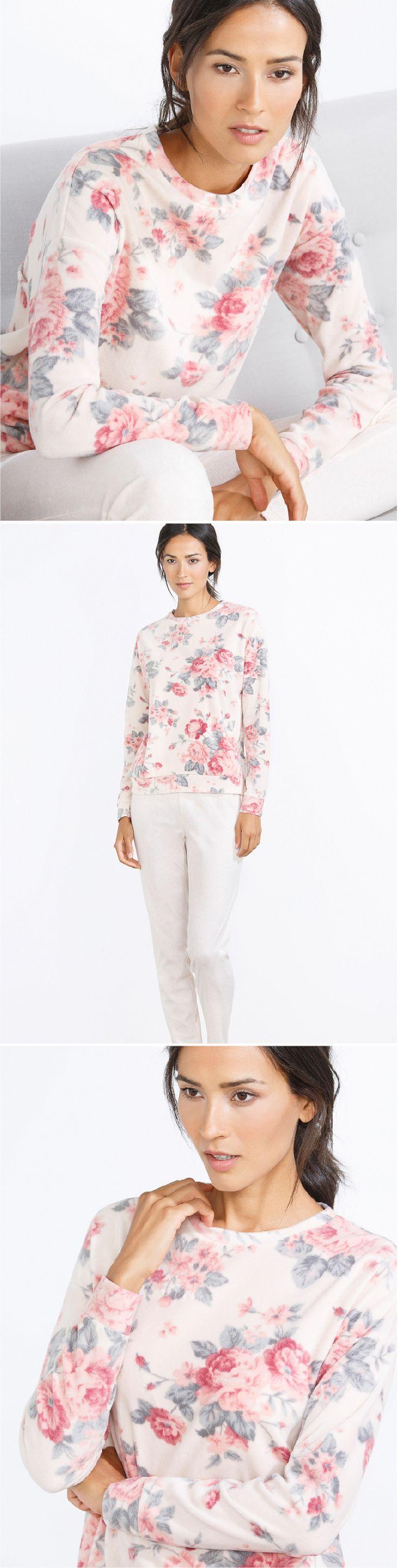 Long vintage floral pyjama